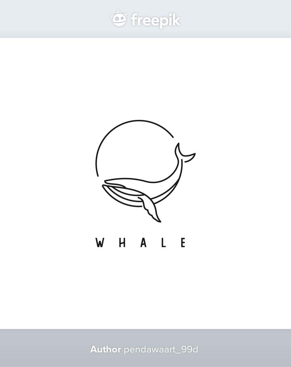 Simple Whale Logo Design