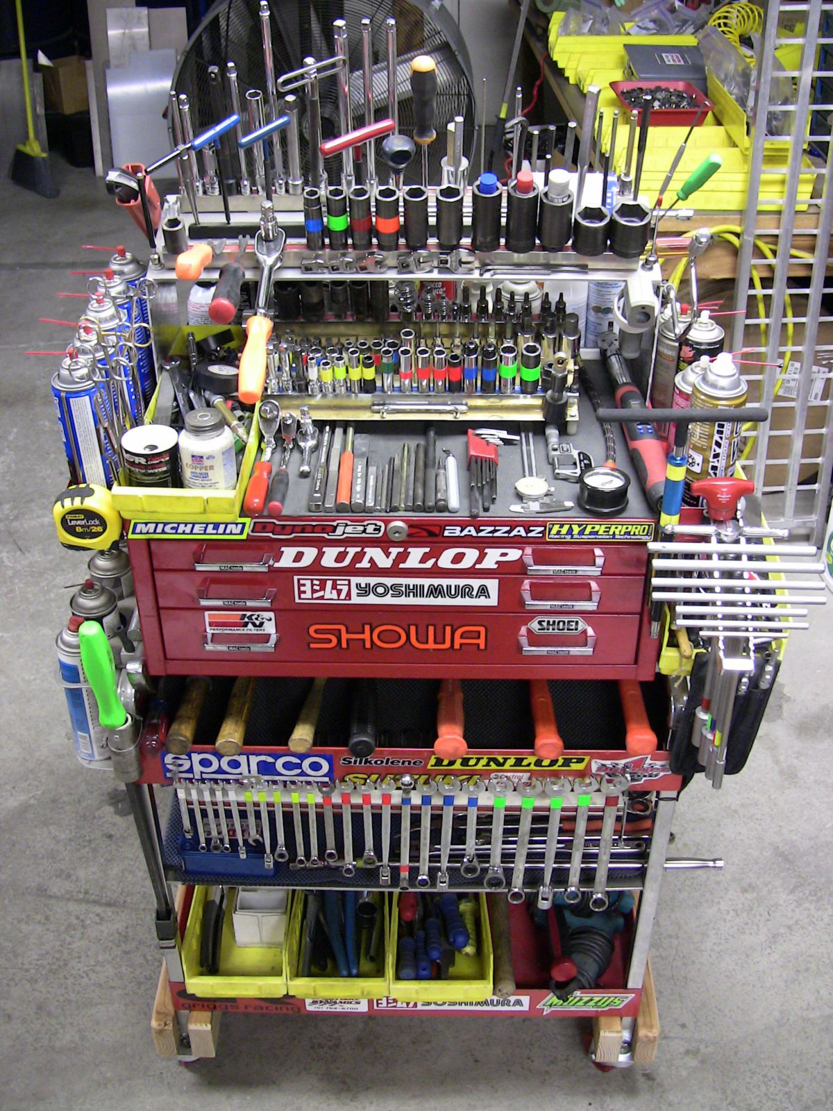 Super tuned tool cart pics motorcycle purposed the for Home mechanic garage layout ideas