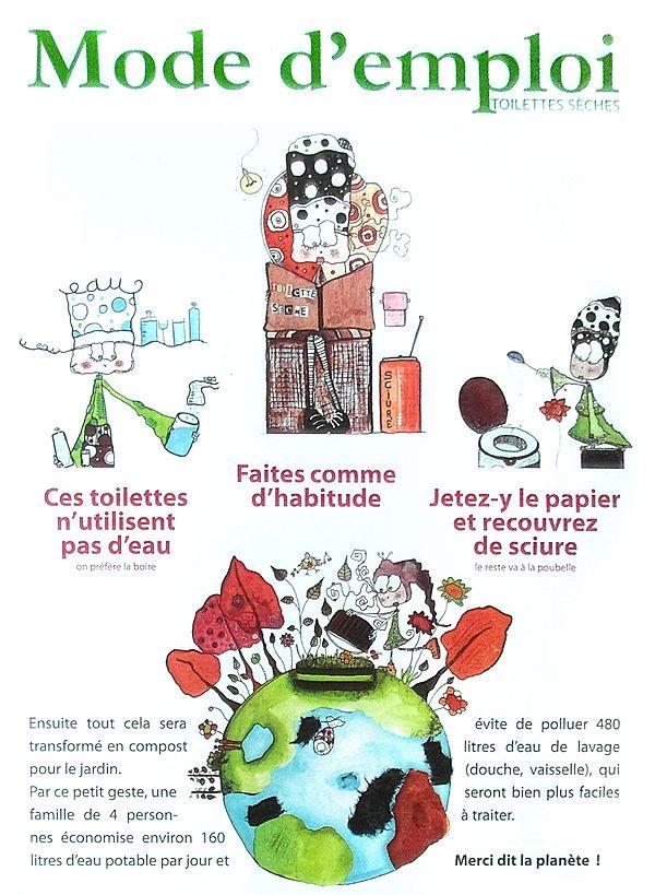 mode d\u0027emploi toilettes sèches Affiches Pinterest Emploi - Toilette Seche Interieur Maison