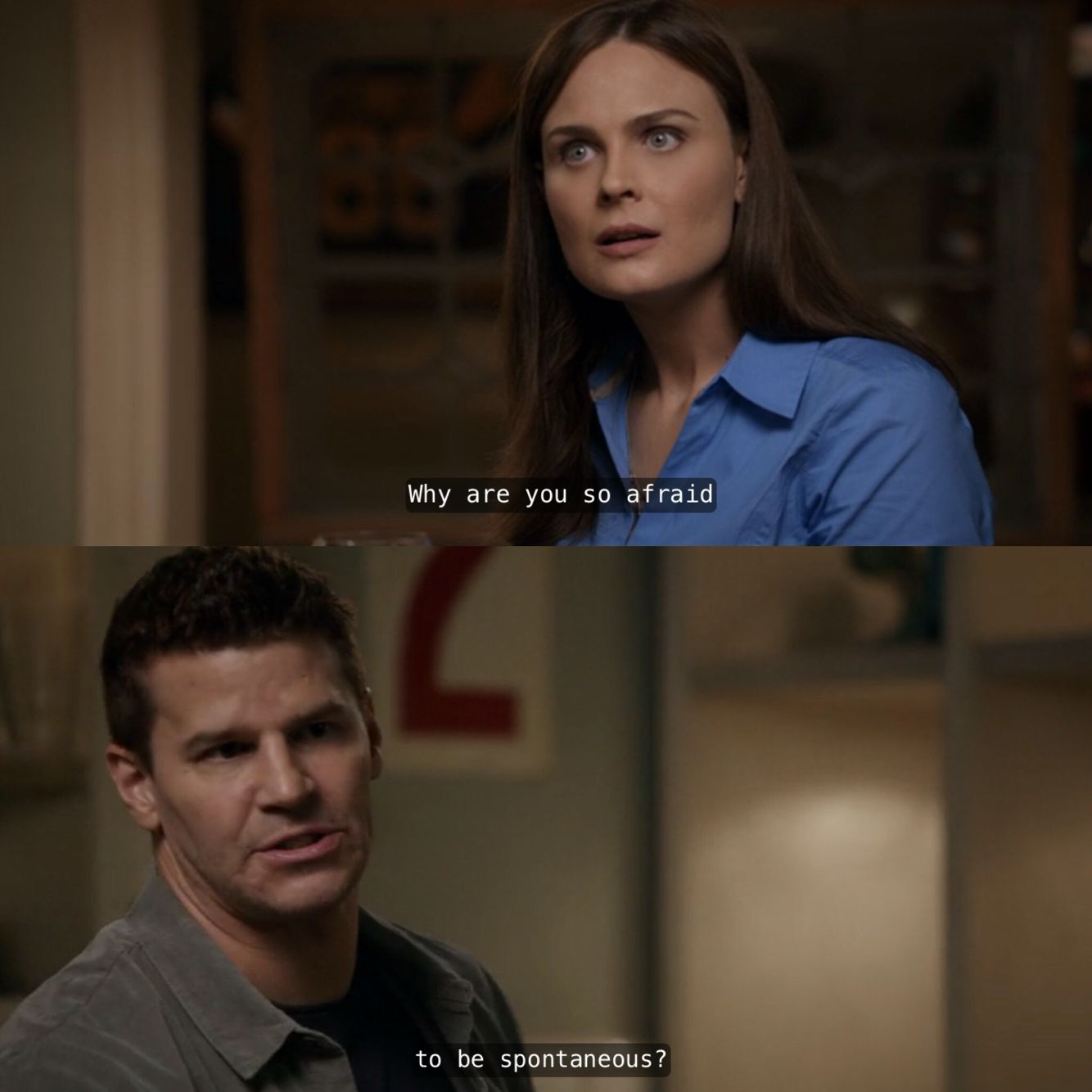 Booth And Brennan Had A Fight Over Brennan S Extreme Rationality Bones Season 8 Booth And Bones Bones Booth And Brennan