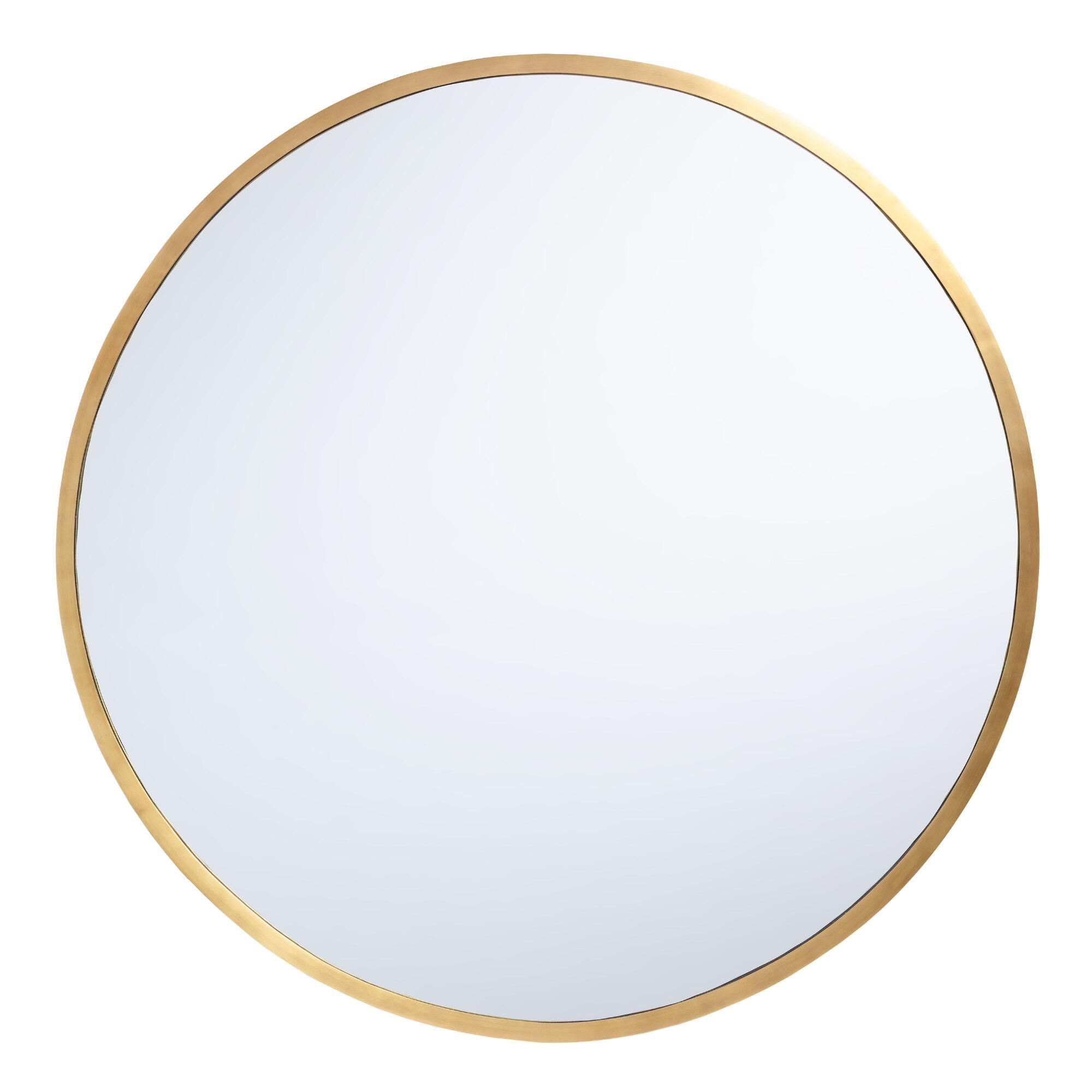 Oversized Round Brass Sana Mirror In 2020 Large Round Wall Mirror Round Gold Mirror Oversized Round Mirror