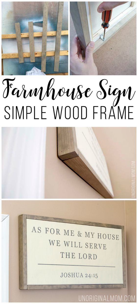 Simple Wood Frame for a Canvas | Pinterest | Diy frame, Farmhouse ...