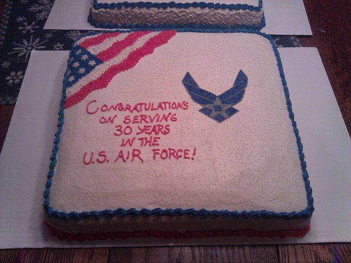 Air Force retirement cake! All buttercream! All edible!  http://www.facebook.com/angelas.cakes2011