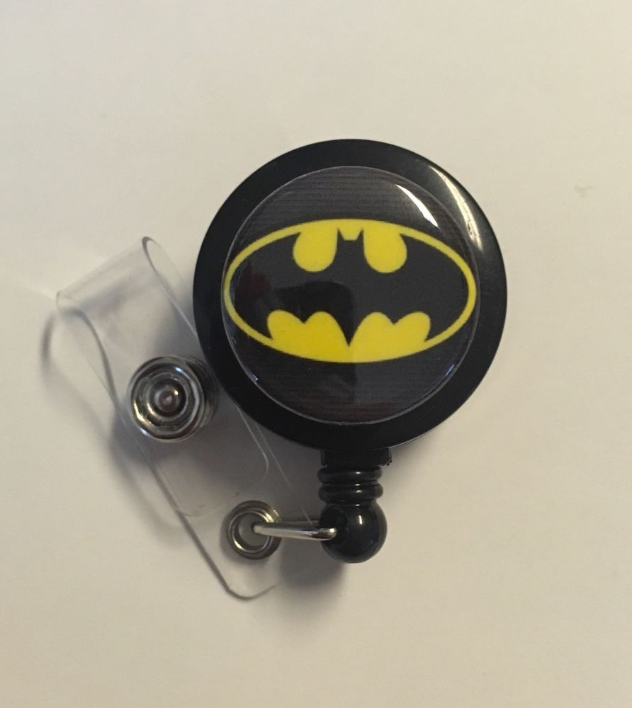 Retractable Badge Holder Batman Medical Office Supplies Nurse Veterinary