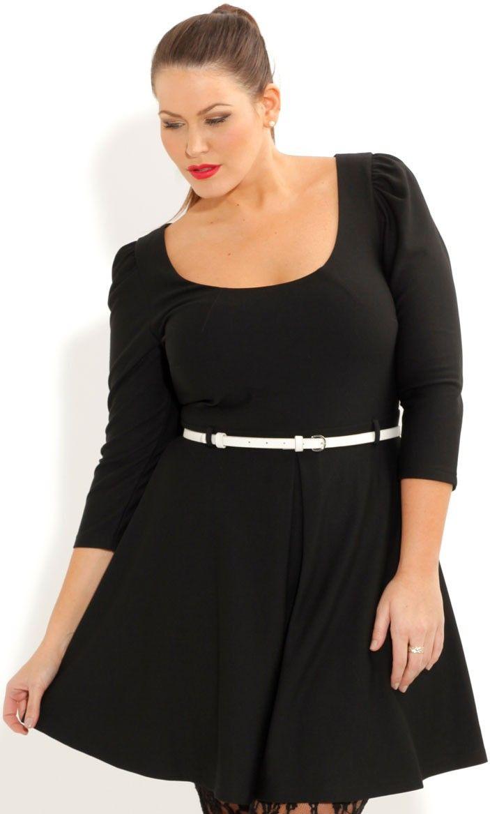 Plus Size Ice Skater Dress - City Chic -$88.00 | My Style | Dresses ...