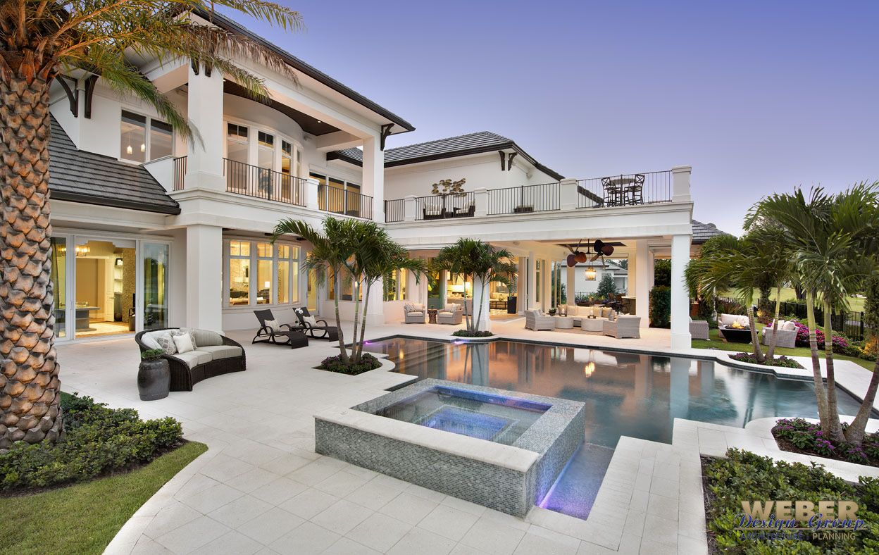 Beach House Plan Caribbean Style Golf Course Home Floor Plan Florida House Plans Luxury Homes Dream Houses Dream House