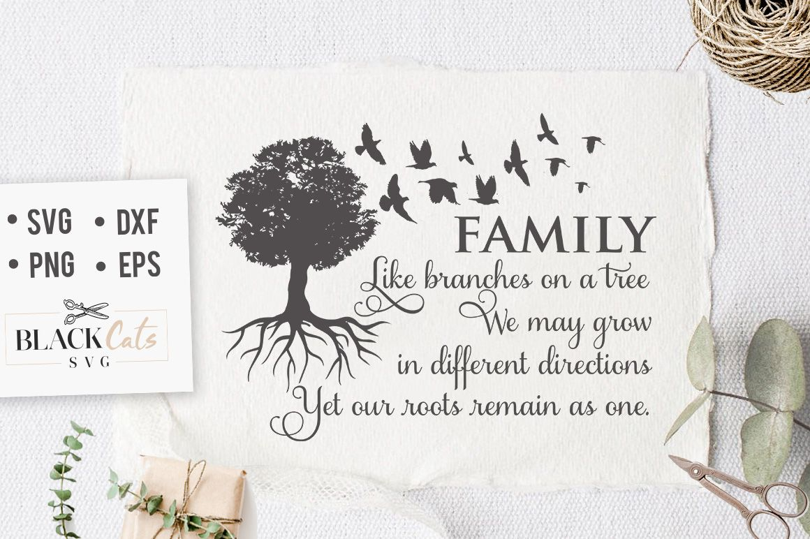 Family Like Branches of a Tree SVG (Graphic) by sssilent