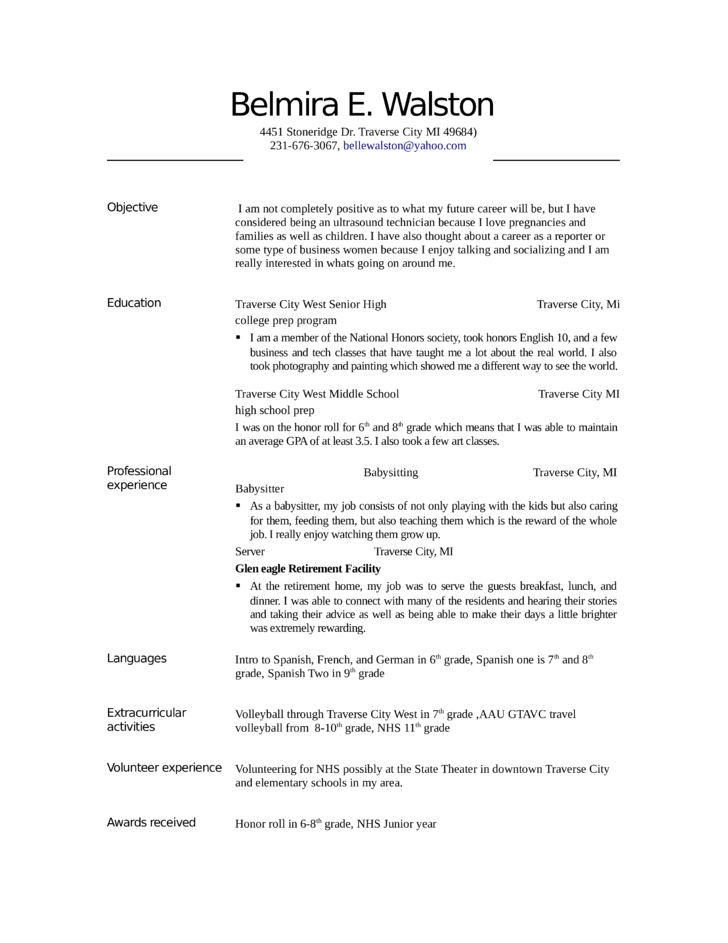 Resume Examples Ultrasound Technologist Resumeexamples