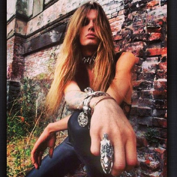 """Sabastian Bach from the """"hair band"""" Skid Row.  This is for my youngest daughter...."""