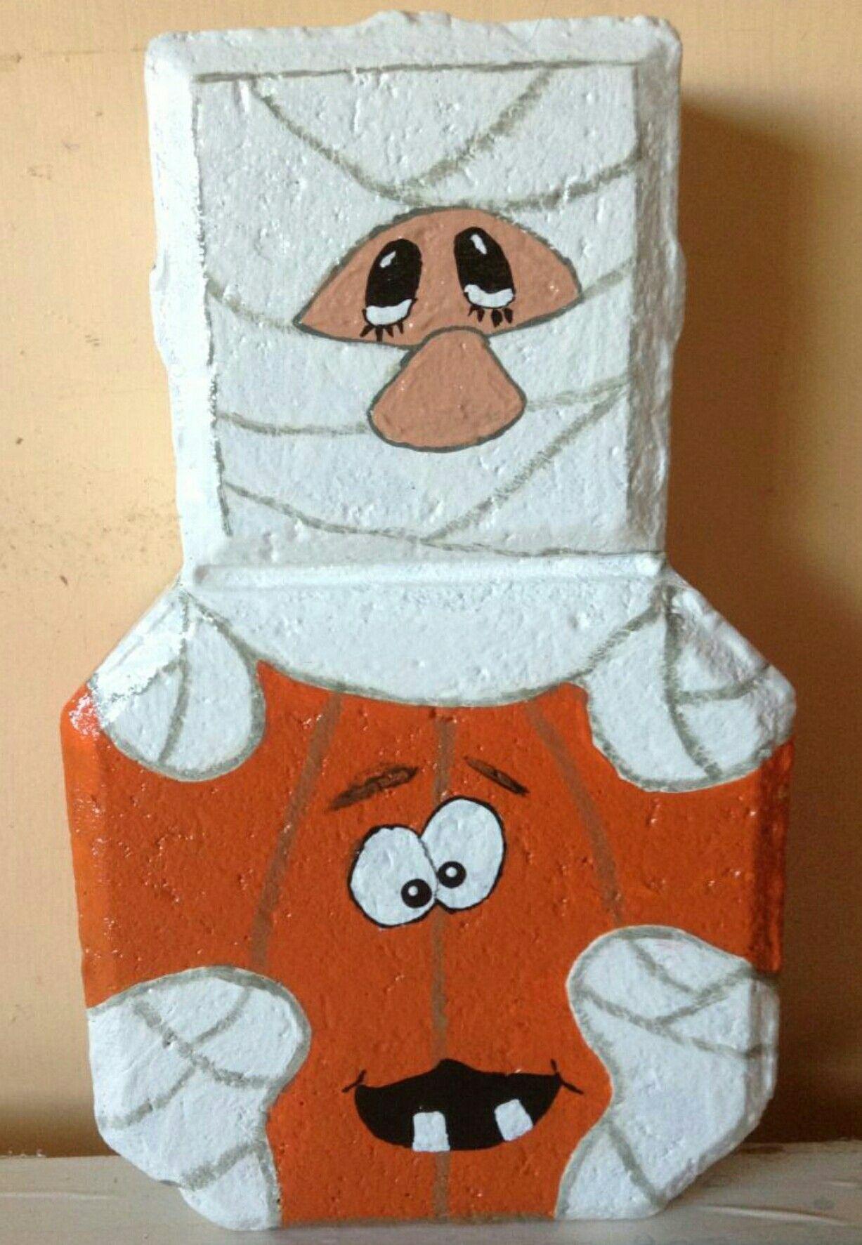 Halloween Mummy Patio Paver In