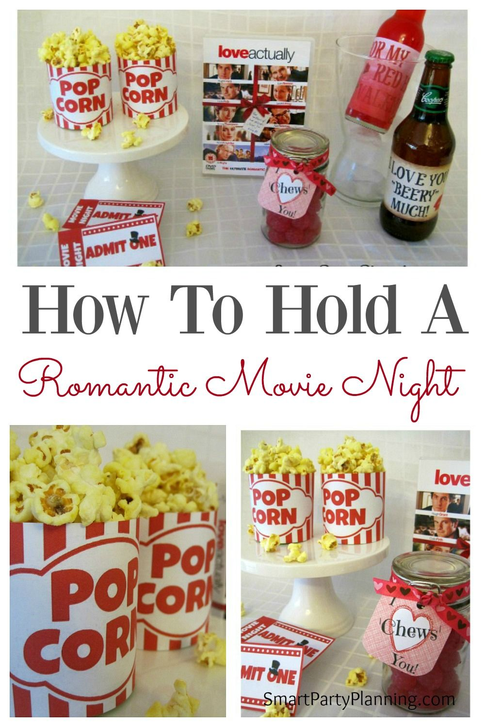 How To Plan A Romantic Movie Night With Free Printables Themed