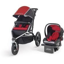 Urbini Avi Jogger Travel System Includes Petal Infant Car Seat And Base Red