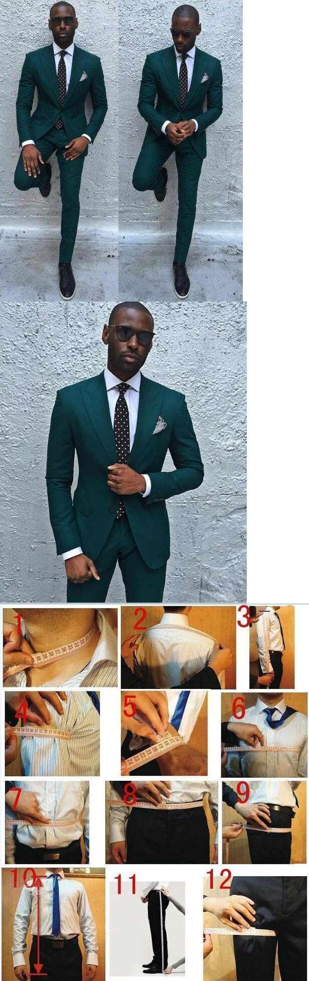 Tuxedos and Formal Suits 105515: New Dark Green Men Suits Formal ...