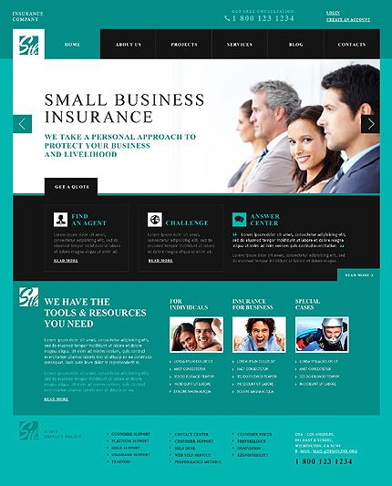 Template 46270 Insurance Company Responsive Wordpress Theme