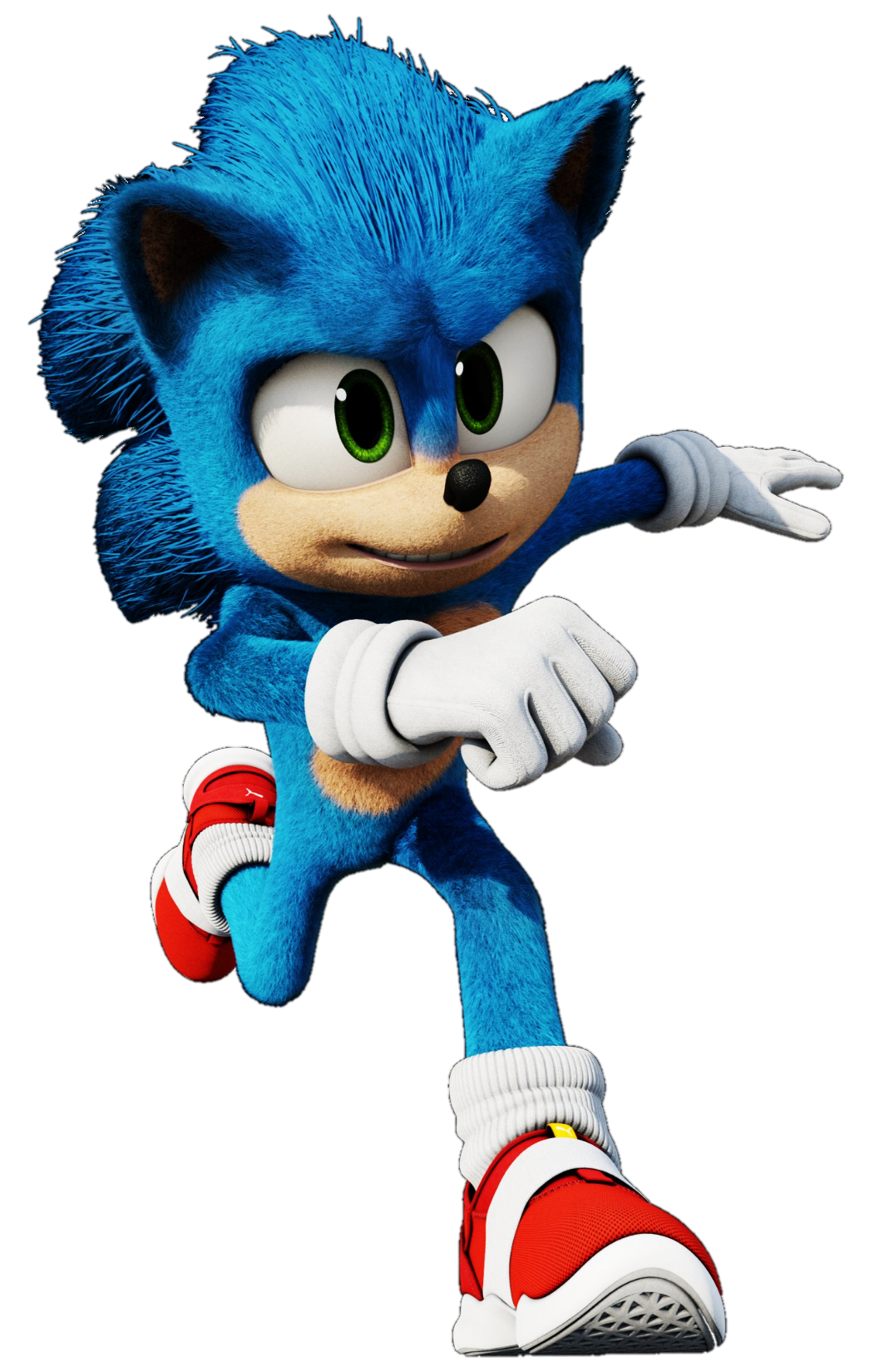Sonic Run Pose Sonic Sonic The Movie Sonic Fan Art