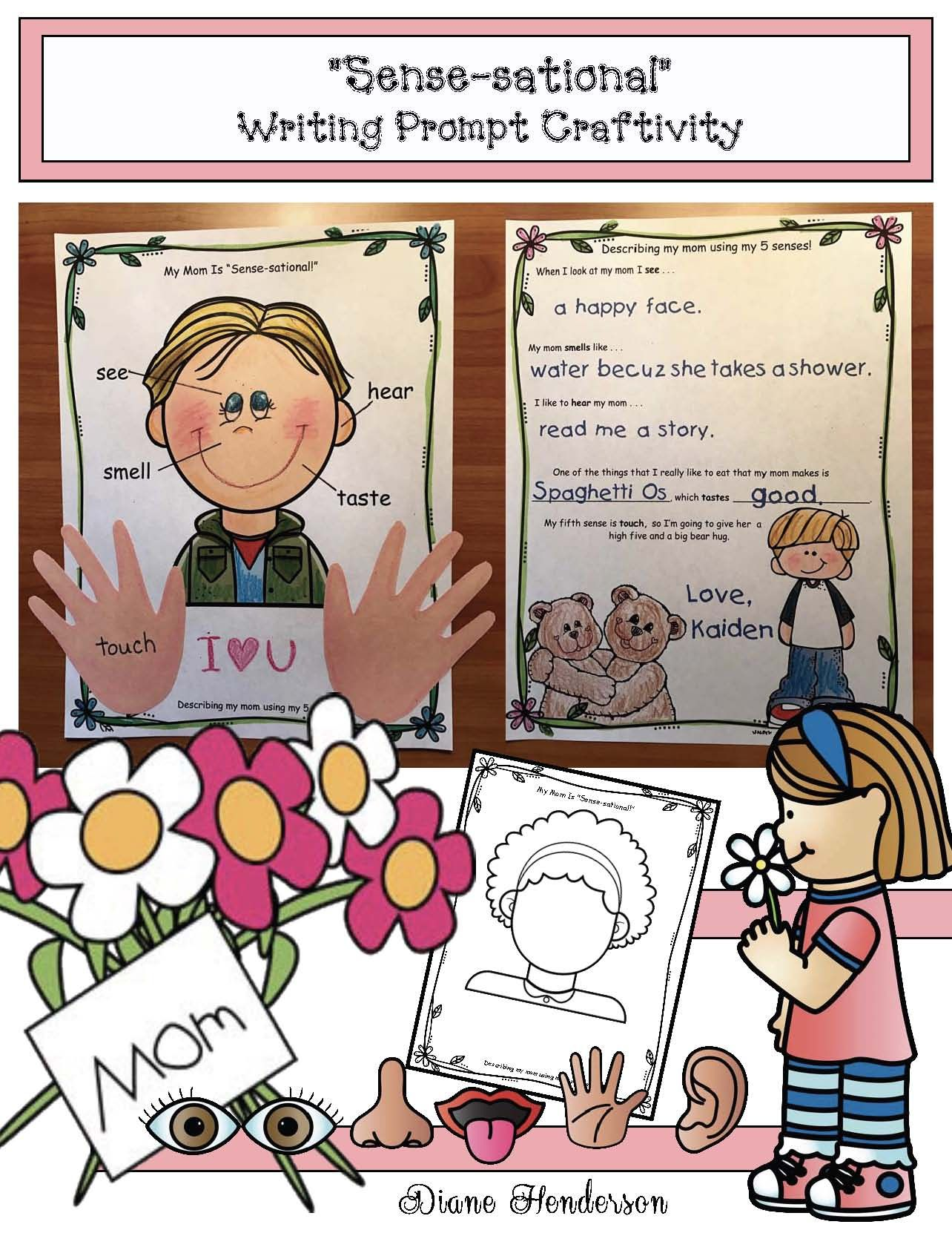 Writing Prompt Activities Sense Sational Mom Or Dad