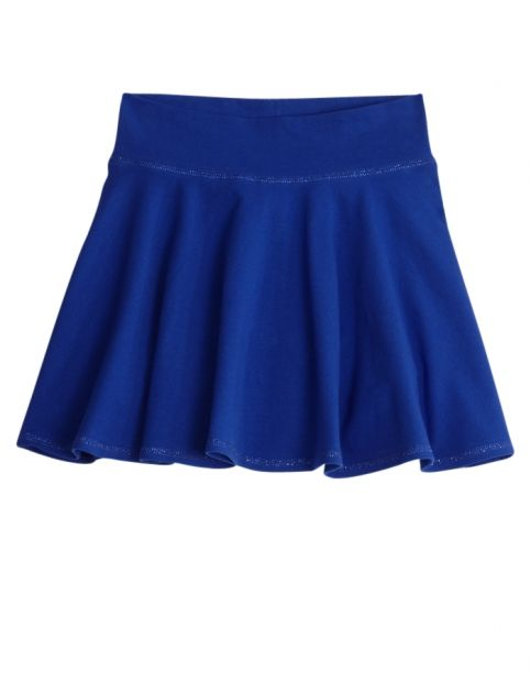 45269e8ae340 This bright blue Skater Skirt from Justice has built-in shorts underneath.  Perfect for girls on the go!