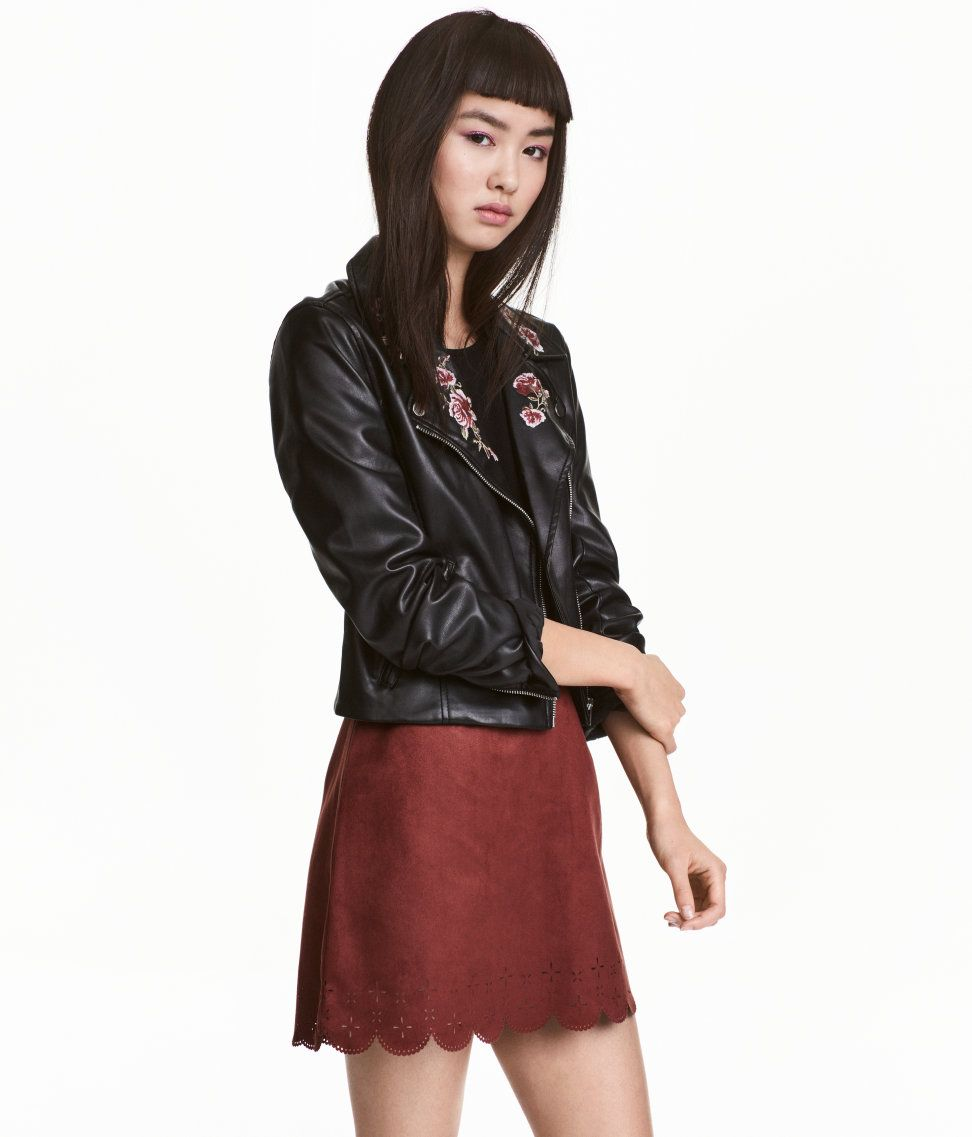 Imitation Suede Skirt | H&M Divided