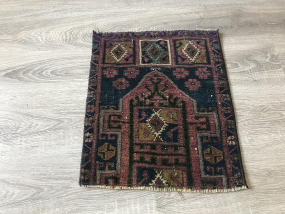 "1\'5x1\'7""ft. / 45x52 / Small purple rug / small area rug ..."