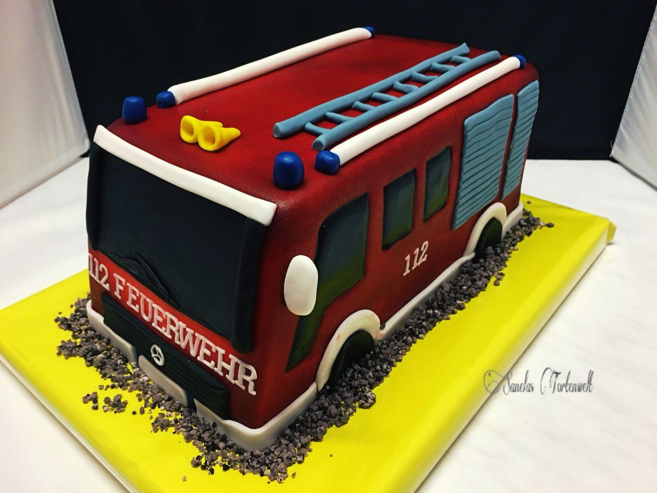3d Firetruck Cake 3d Feuerwehrauto Torte Kindergeburtstags Torte