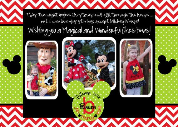 Mickey Monogram Merry Disney Inspired Christmas by marcylauren ...