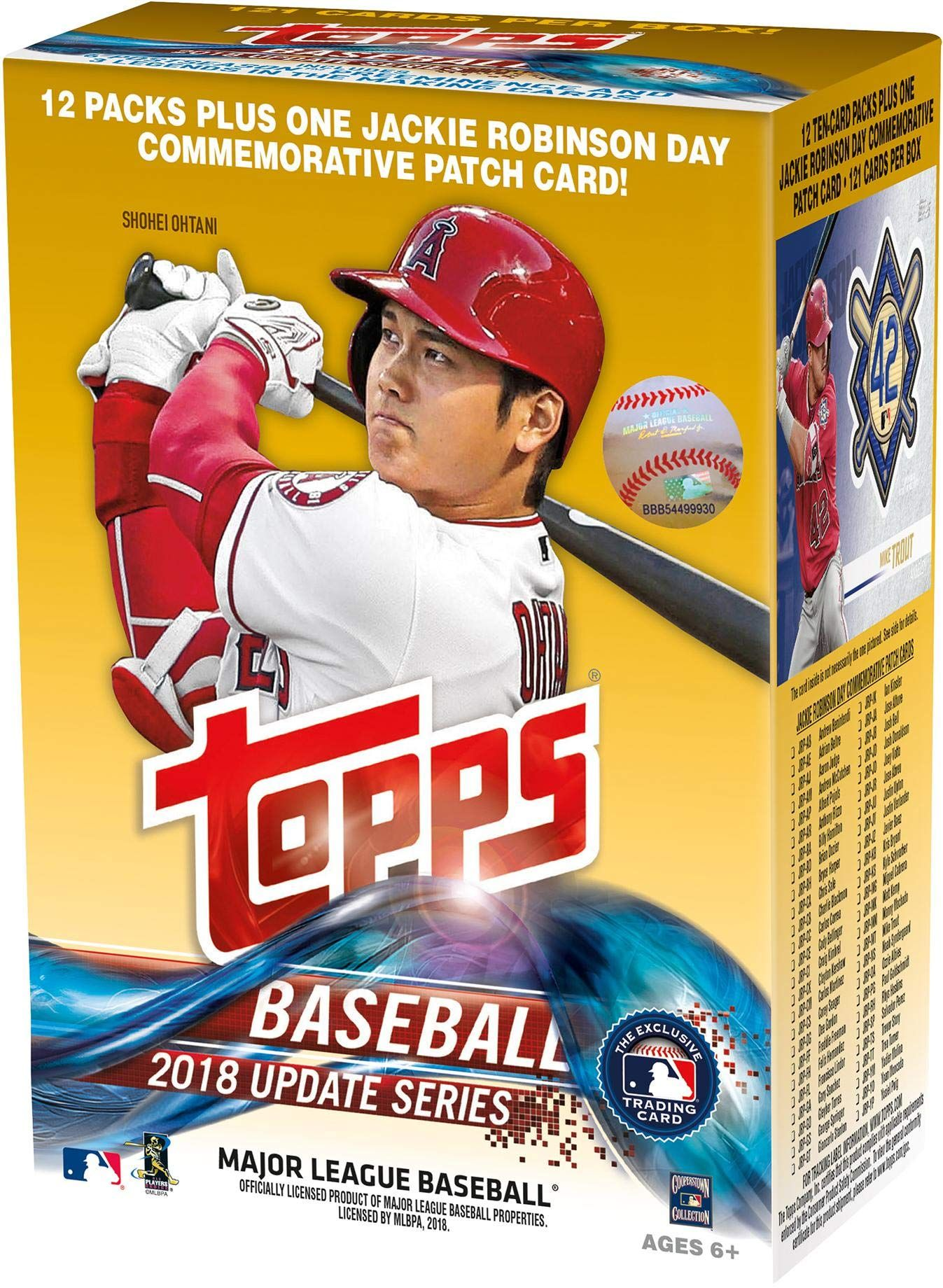 2018 topps baseball update 13 pack exclusive value box