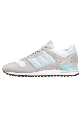 Adidas Originals zx 700 zapatilla Solid GRIS / Blush Azul / blanco