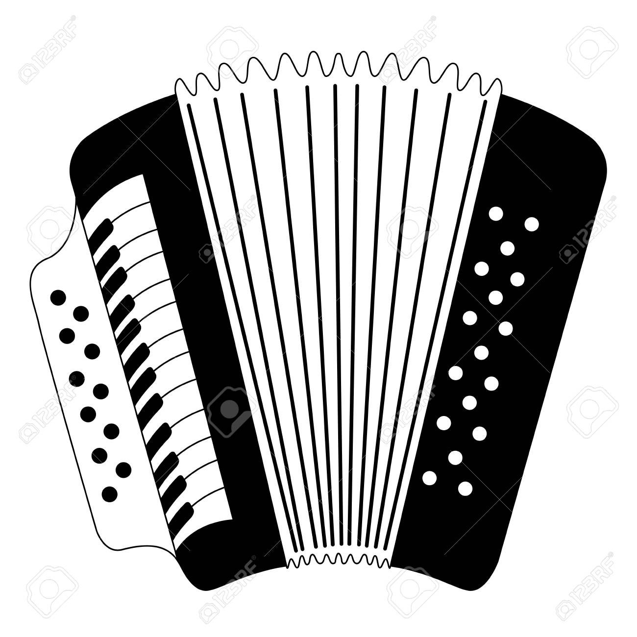 Isolated accordion icon. Musical instrument , Affiliate