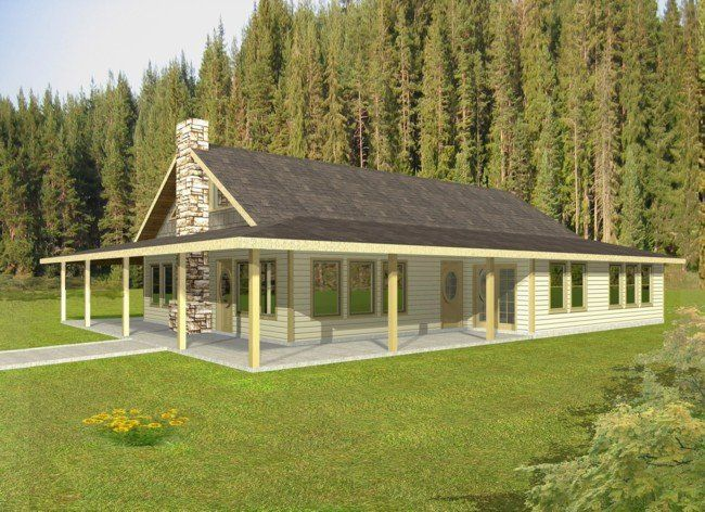 Rustic house plans with wrap around porches standard for Ranch house floor plans with wrap around porch