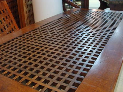 A Fine Vintage Grate Coffee Table Custom Crafted In The 1970 S