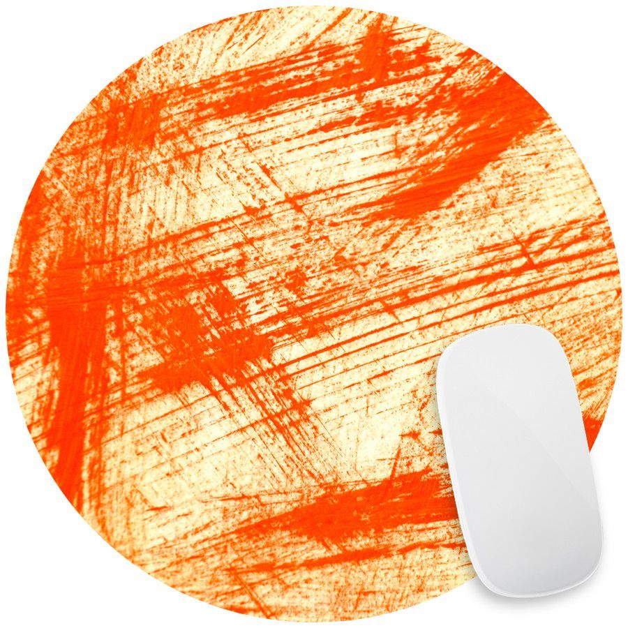 Brush Strokes in Red Mouse Pad Decal