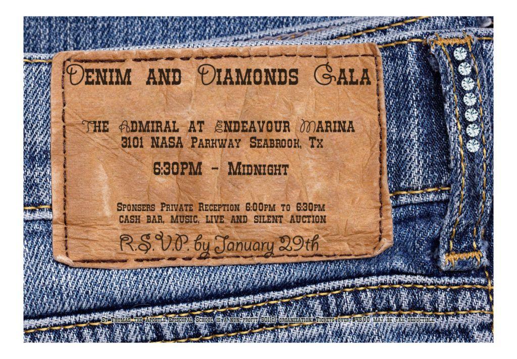 denim and diamonds invitation free denim invitation
