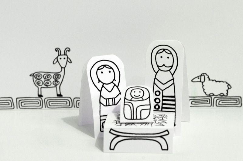 Un Portal de Belén Imprimible para Colorear | DIY: Hazlo tu ...