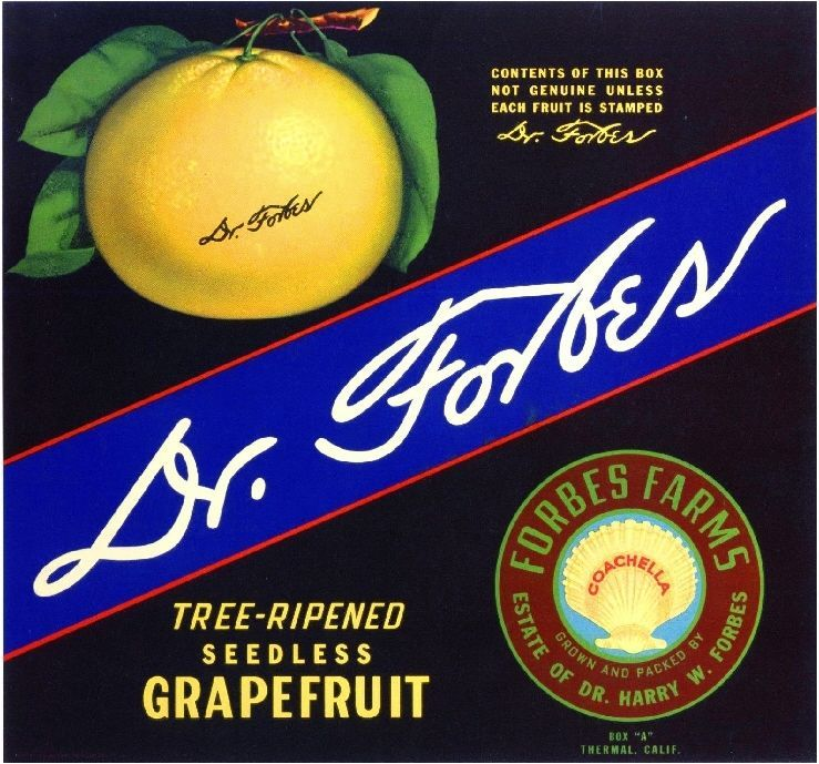 Thermal Dr. Forbes Coachella Valley Grapefruit