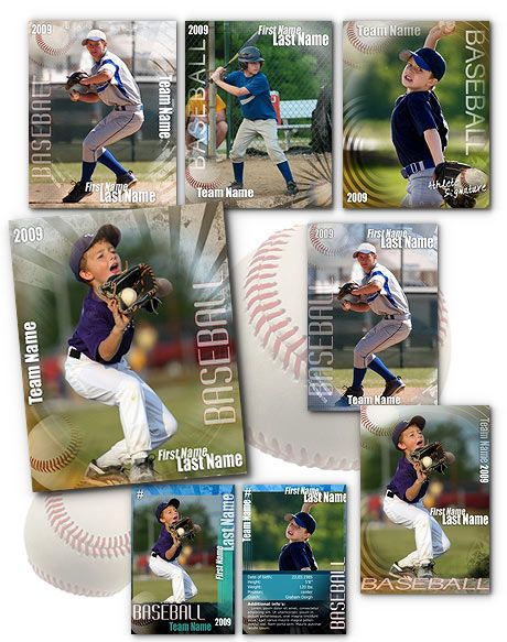 Signature Baseball Psd Templates Baseball Card Template Baseball Photography Baseball Cards
