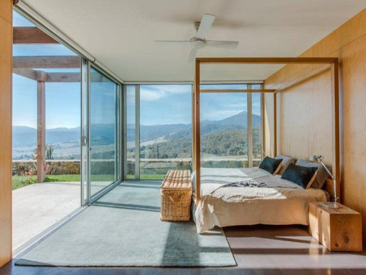 Set in Victoria's alpine high country is Solterra, a contemporary home of rammed earth, ironbark and expanses of glass perfect to frame the expansive mountain views. Two hours from Melbourne and 30 minutes from Mount Buller's ski slopes it is perfect for winter fun or summer escapes.