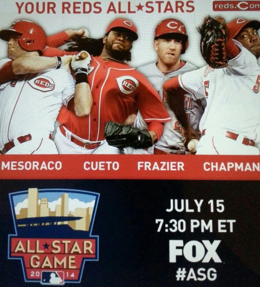 OUR 2014 REDS ALL STARS AL WON Cincinnati reds baseball