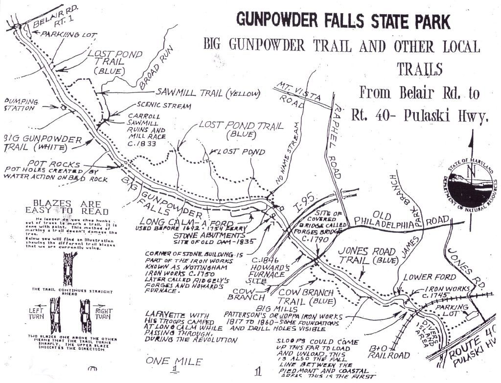 Gunpowder Falls State Park Map