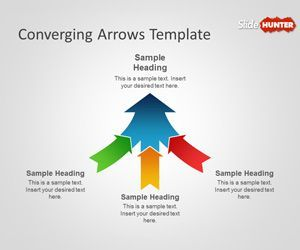 sometimes it is good to show multiple arrows converting into a, Presentation templates