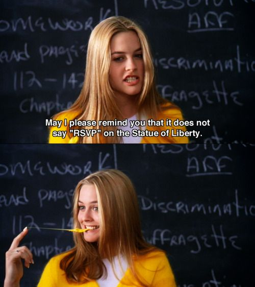 Clueless (1995) Movie Quotes moviequotes clueless1995