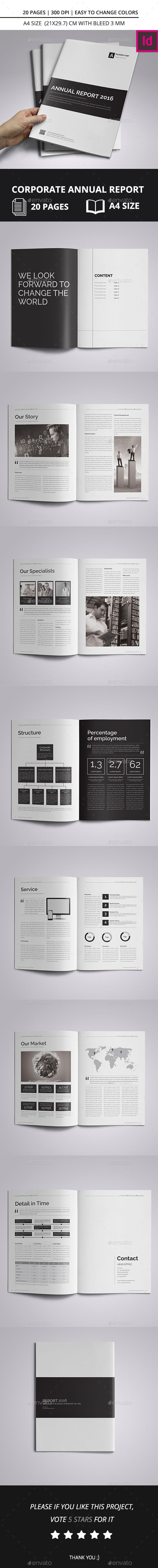 Corporate Annual Report Brochure 2016 A4 Template InDesign INDD #design Download: http://graphicriver.net/item/corporate-annual-report-brochure-2016-a4/14040581?ref=ksioks