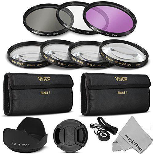 52mm Professional Lens Filter And Close Up Macro Accessory Kit For Nikon D7100 D7000 D5300 D5200 D5100 D5000 D3300 D Digital Filter Accessory Kits Lens Filters