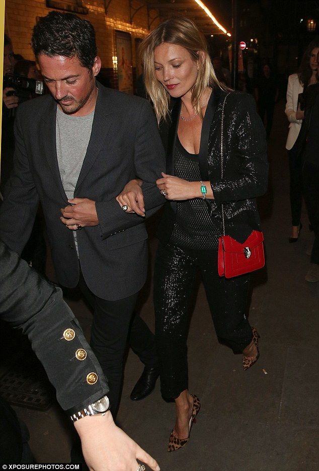 d4afba7a5bf0f Only the best will do: Kate was accompanied by David Beckham's best friend  Dave Gardner while arriving at J Sheekey in London for dinner on .