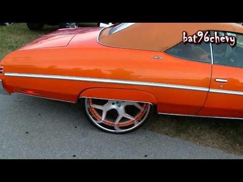 Lambo Orange 75 Caprice Donk Vert On Asanti 26 S Brushed Rims