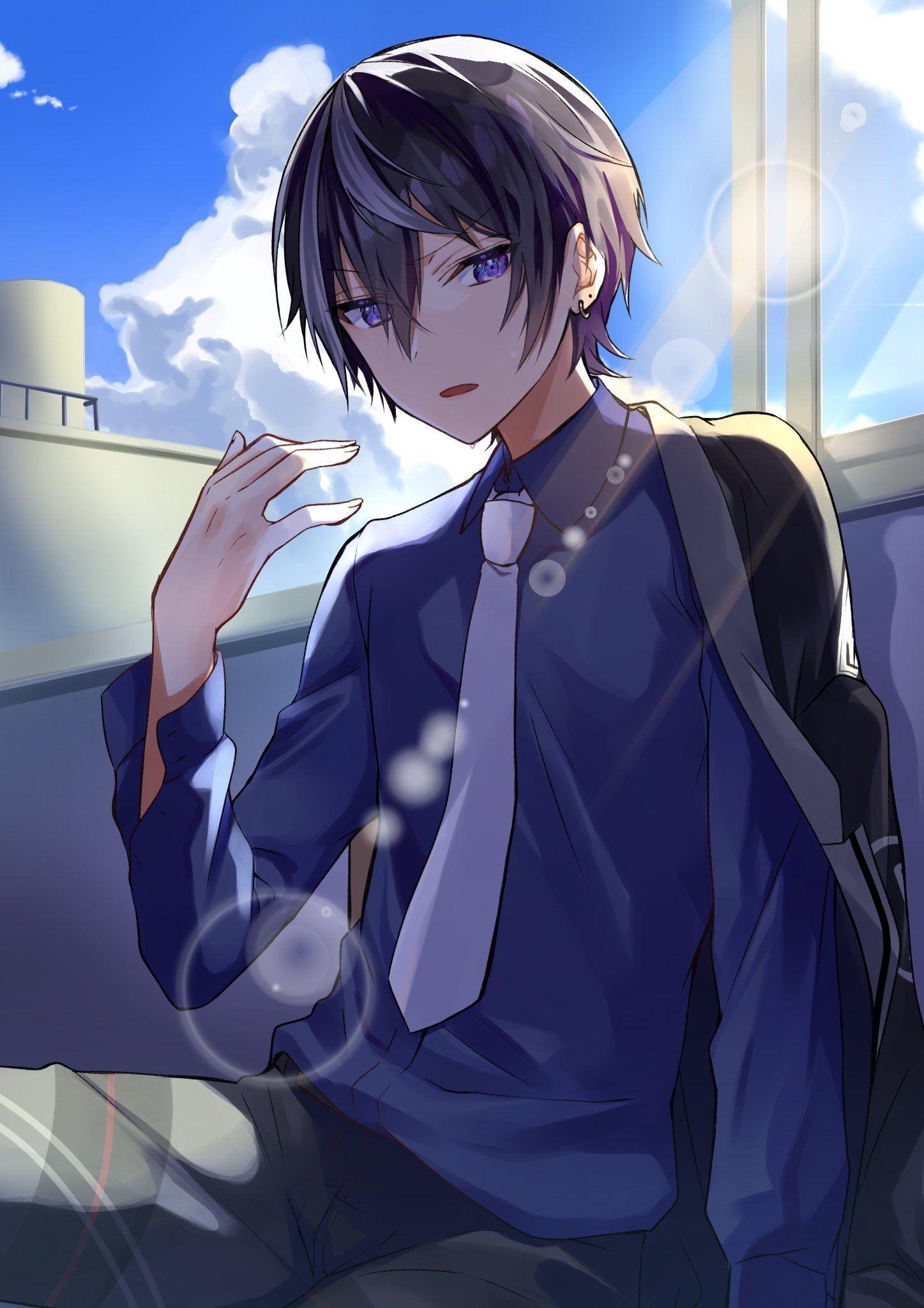 Pin by SailerHoiEevee . on Anime Ocs Anime drawings boy