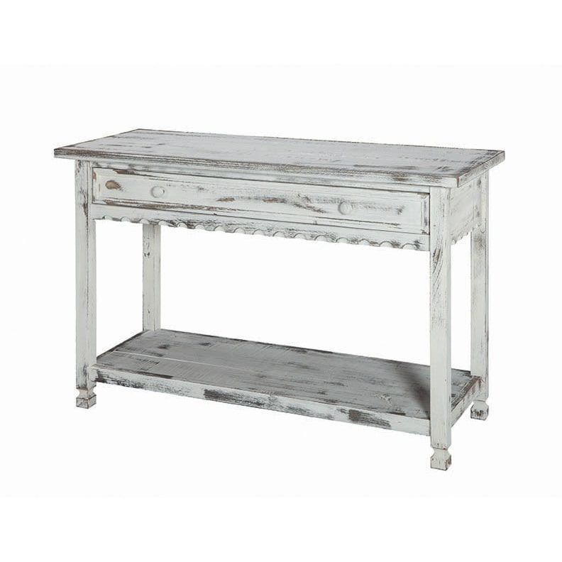 Country Cottage Reclaimed Wood Console Table Red Alaterre Rustic Console Tables Furniture Console Table