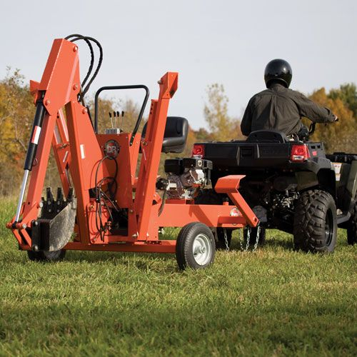 DR Power Backhoe: 9HP Towable (self-contained excavator