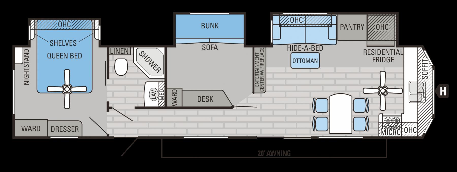 2016 Jay Flight Bungalow 40bhts Travel Trailer Floor Plans Rv Floor Plans Camper Flooring