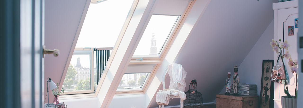 Velux Cabrio Balcony Windows Deck Mounted Roof Styles Roof Window Velux Skylights