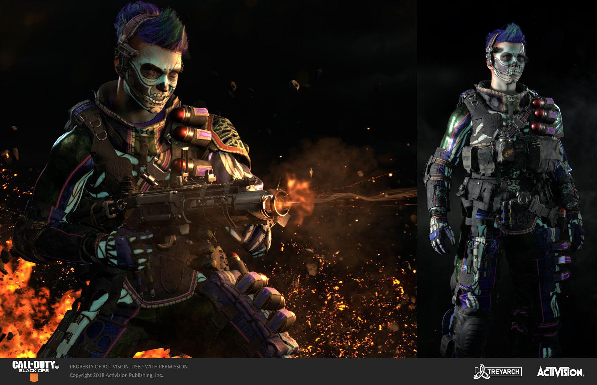 Battery Muertos Skins Call Of Duty Black Ops 4 By Peter Zoppi Https Www Artstation Com Artwork Za4eqz Textured With Black Ops 4 Call Of Duty Black Ops